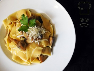 pappardelle με μανιτάρια